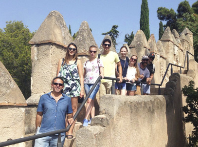 Spanish Visa Study Program Student Castle Visit