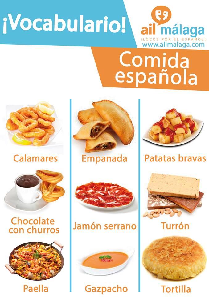 vocabulario comida española
