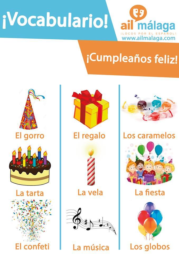 vocabulario cumpleaños