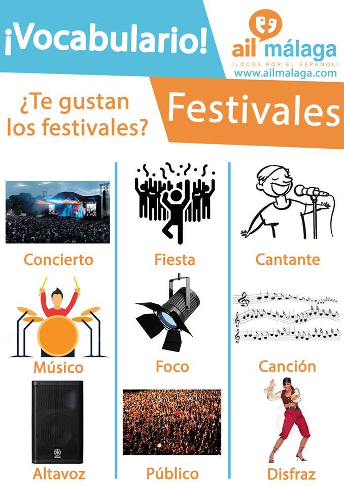 vocabulario festivales
