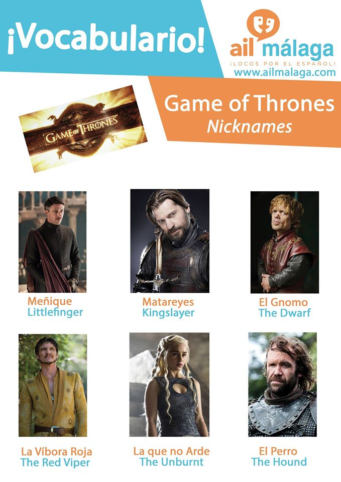 vocabulario game of thrones