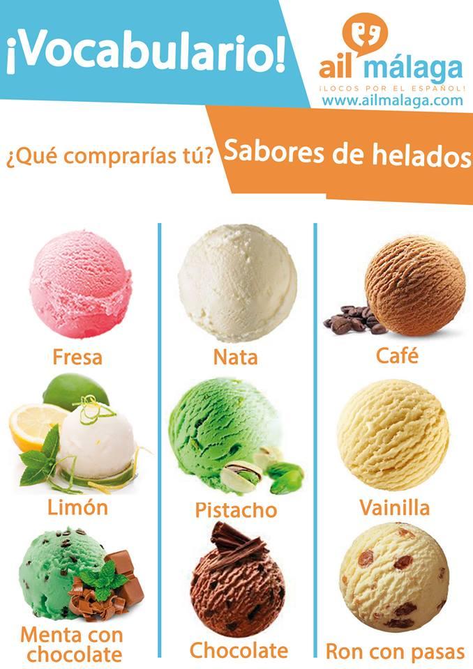 vocabulario helados