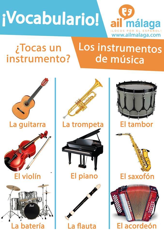 vocabulario instrumentos de música