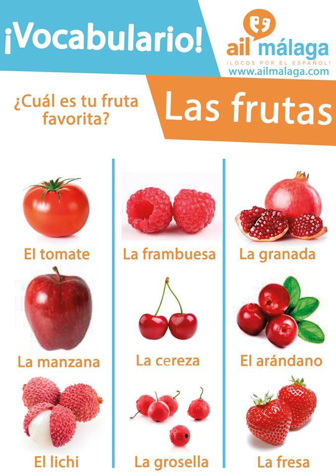 vocabulario frutas