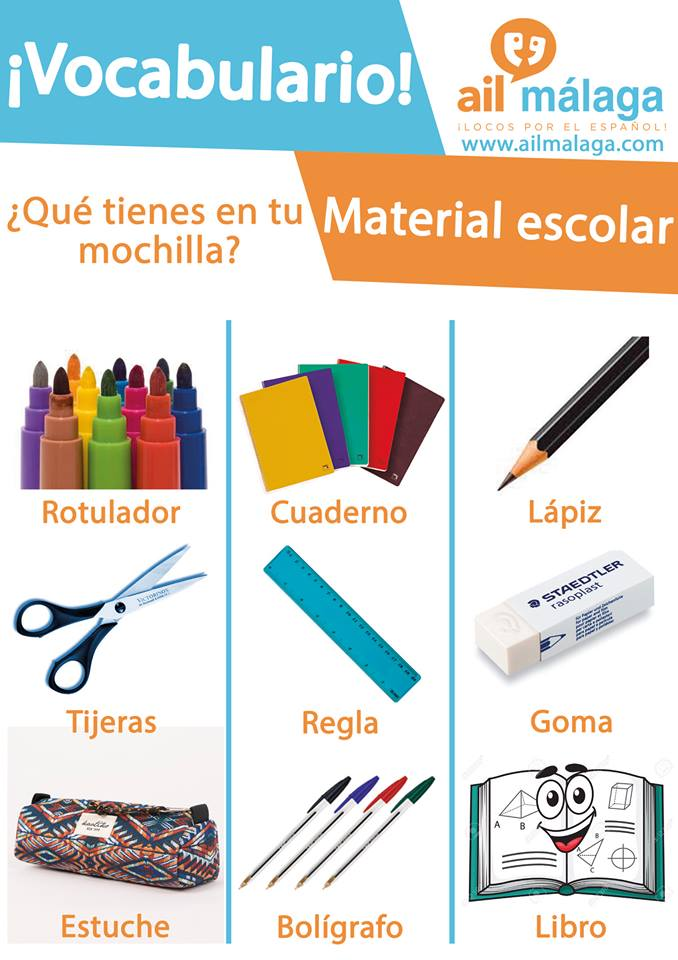 vocabulario material escolar