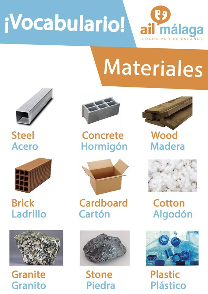 vocabulario materiales
