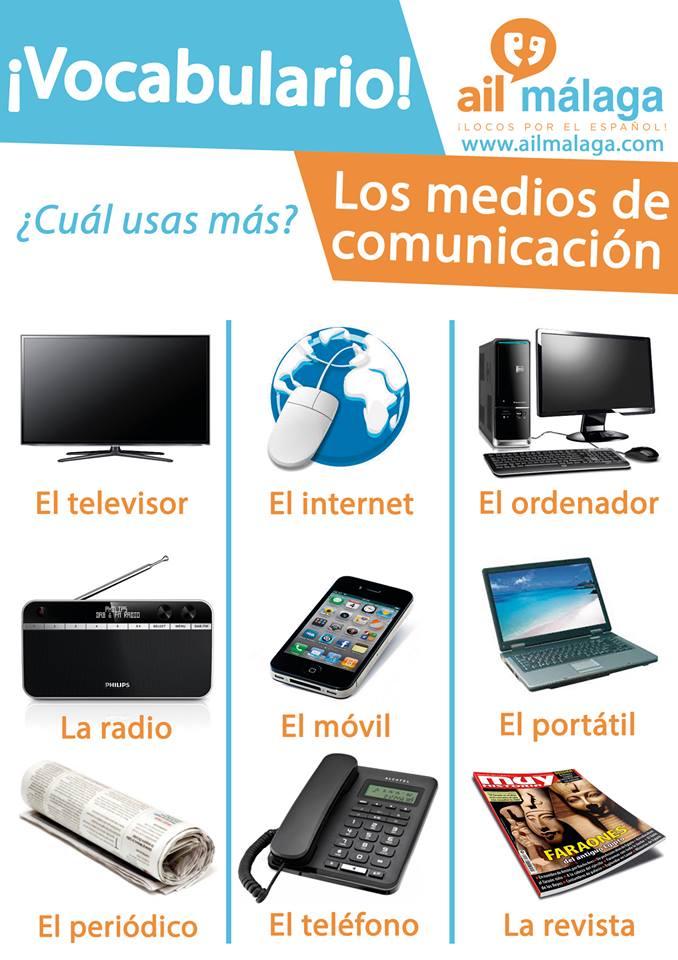 vocabulario medio de comunicación