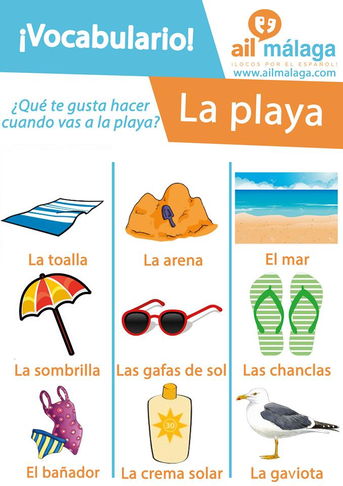 vocabulario playa