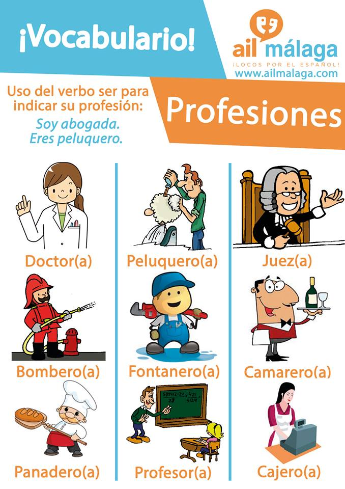 vocabulario profesiones
