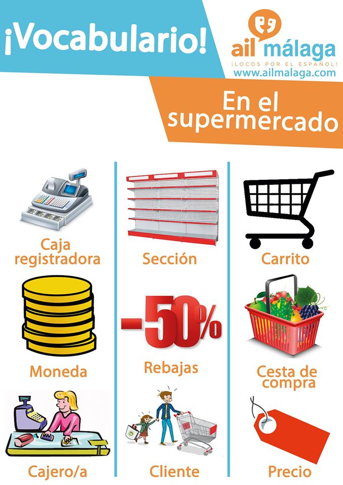 vocabulario supermercado