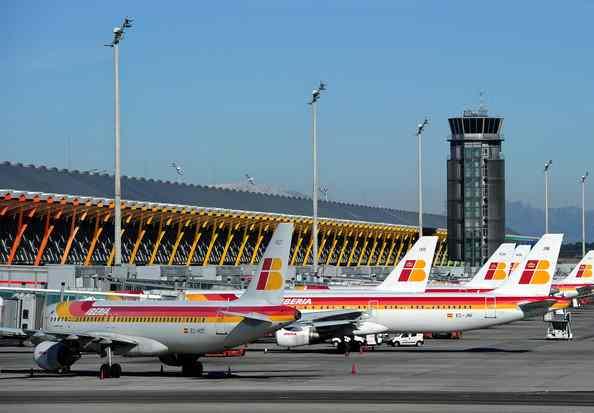 Flughafen-in-Madrid