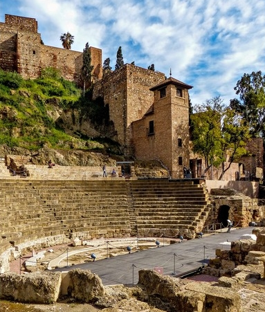 Theatre-Romain-Alcazaba-Málaga-etudie-espagnol-hiver-