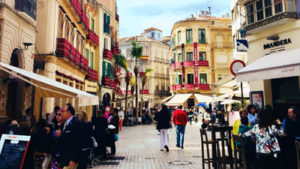 malaga city centre spain
