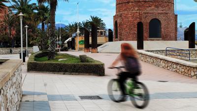 balade en vélo plage malaga espagne costa del sol