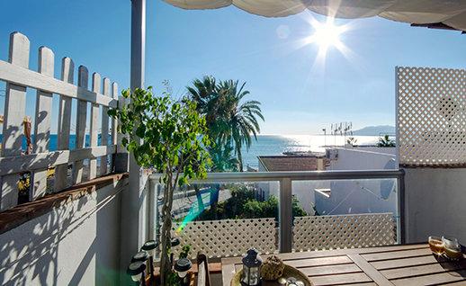 vista sulla spiaggia rilassante Malaga