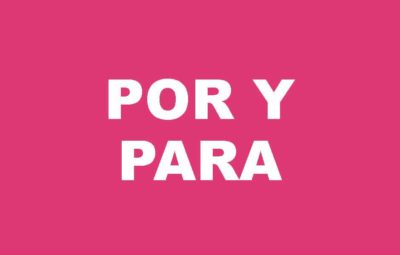 Spanish quiz por y para grammar