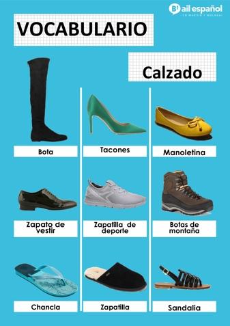 CALZADO - AIL Malaga Spanish Language School study materials
