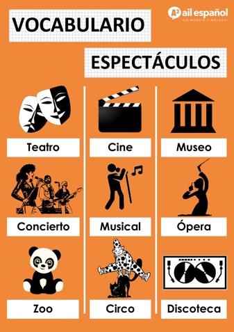 ESPECTACULOS - AIL Malaga Spanish Language School study materials