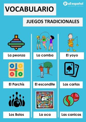 JUEGOS TRADICIONALES - AIL Malaga Spanish Language School study materials