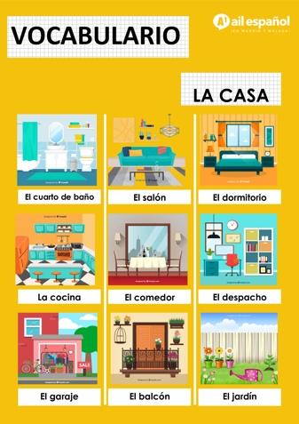 LA CASA - AIL Malaga Spanish Language School study materials
