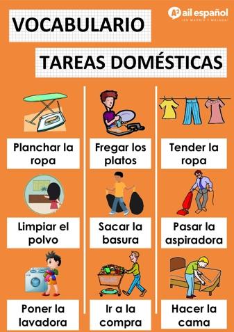 LAS TAREAS DOMESTICAS - AIL Malaga Spanish Language School study materials