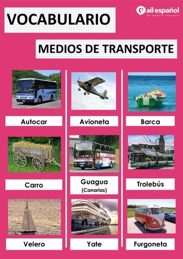 MEDIOS DE TRANSPORTE - AIL Malaga Spanish Language School study materials