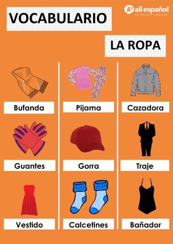 PRENDAS DE ROPA - AIL Malaga Spanish Language School study materials