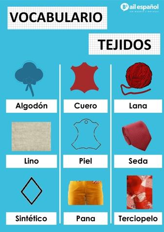 TEJIDOS - AIL Malaga Spanish Language School study materials