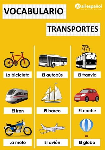 TRANSPORTES - AIL Malaga Spanish Language School study materials