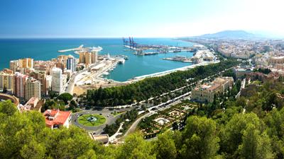 Gibralfaro Castello Malaga Spanien