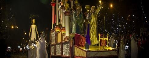 Heilige drei Könige in Spanien ail Málaga